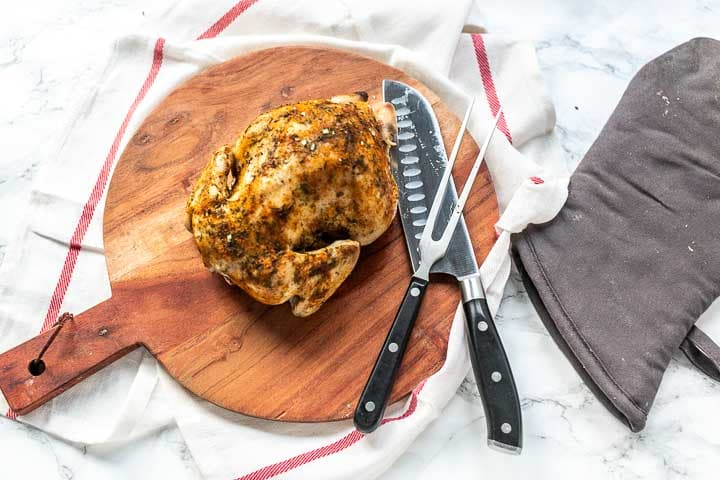 Slow cooker whole chicken recipe shows you how easy it is to make chicken in the Crockpot. Soft, moist chicken dinner #thetortillachannel #slowcookerchicken #crockpotchicken #crockpotrecipe #slowcookerrecipe #easychickenrecipe