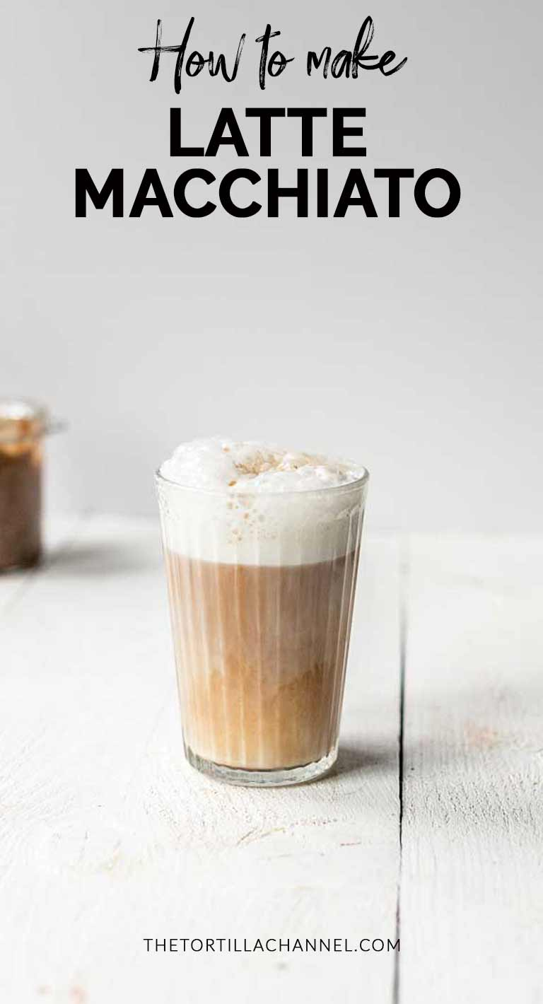 Vegan latte macchiato a great coffee recipe that you can drink if you are vegan, lactose intolerant or just a lover of coffee. #thetortillachannel #lattemacchiato #latterecipe #lattemacchiatorecipe