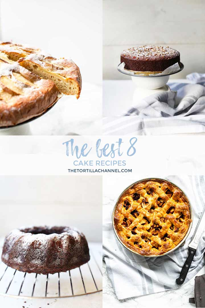 Sharing the best 8 cake and pie recipes that you can make as a dessert. Vegan cake, gluten free cake we have all sorts cakes and pies. Take a look on thetortillachannel.com #thetortillachannel #thebestcakerecipes #thebestcakes #thebestpierecipes