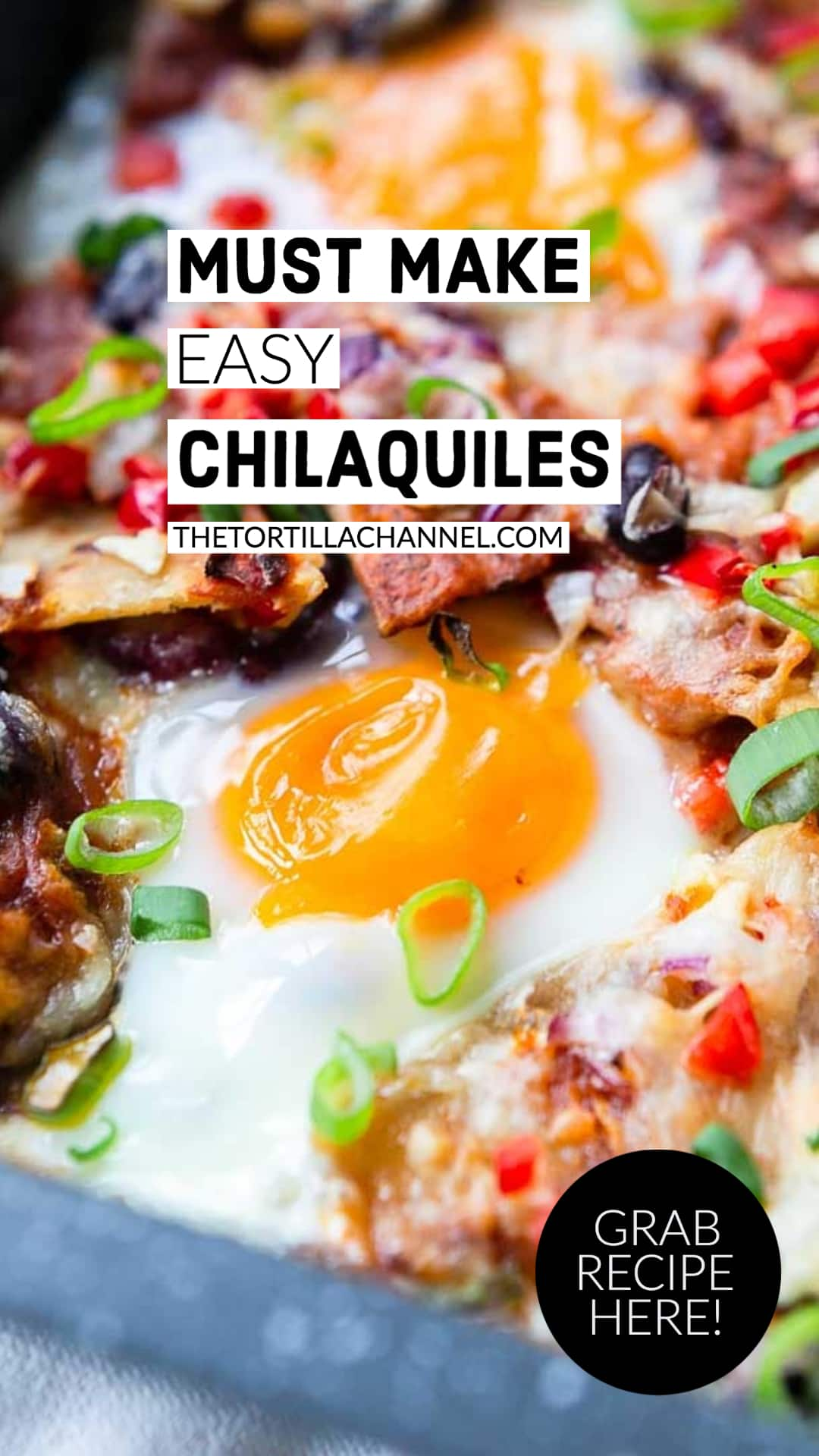 Chilaquiles is great breakfast or lunch recipe made with fried tortillas, veggies and eggs? Easy to make so visit thetortillachannel.com for the full recipe #thetortillachannel #chilaquiles #chilaquilesrecipe #tortillarecipe
