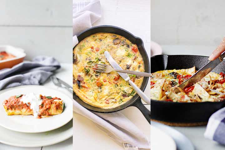 Weekly meal plan sharing 7 delicious egg recipes. Eat these egg recipes for breakfast, lunch or dinner. Visit the tortillachannel.com for the full recipes #thetortillachannel #weeklymealplan #mealplan #eggrecipes #eggsrecipes #7eggrecipes