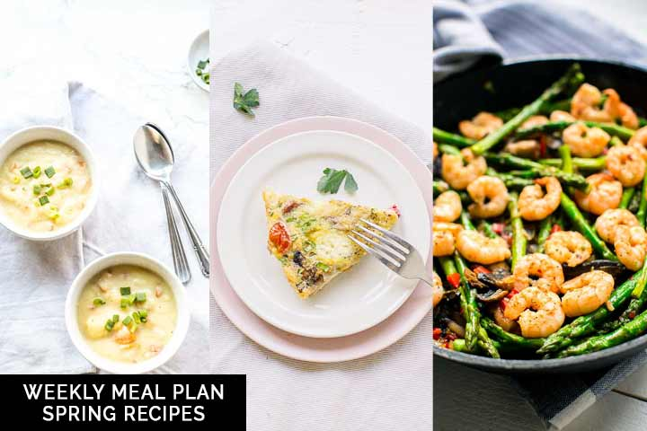 Weekly meal plan Spring recipes because Spring is around the corner. With light, tasty, easy and simple world recipes you can make at home. Visit thetortillachannel.com for the full recipe. #thetortillachannel.com #springrecipes #weeklymealplan #mealplan #easyspringrecipes