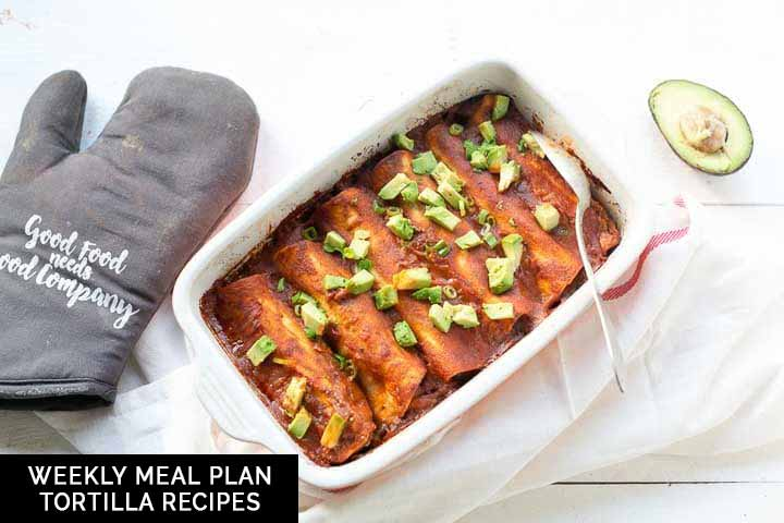 Weekly meal plan tortilla recipes sharing with you 7 delicious tortilla recipes you can eat for breakfast, lunch, snack or dinner. Visit thetortillachannel.com for the recipes #thetortillachannel #tortillarecipes #weeklymealplan #mealplantortillarecipes