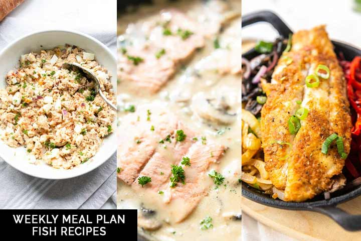 Weekly meal plan fish recipes gives you 7 different fish recipes. Great for dinner or even lunch. Visit thetortillachannel.com for the full recipes #thetortillachannel #fishrecipes #weeklymealplan #mealplanfish