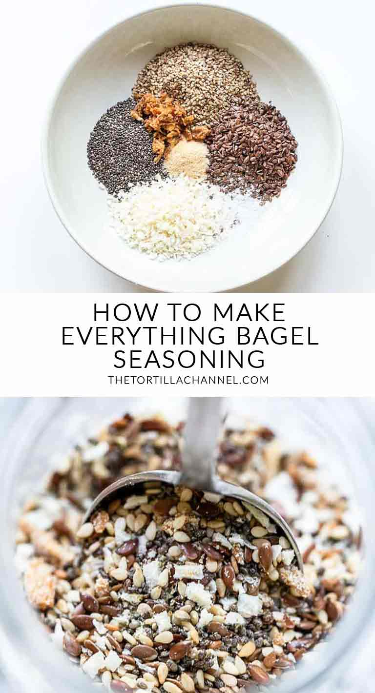 Want to make the best bagel seasoning try this Everything but the bagel seasoning recipe. Easy to make, tasty and super cheap. Visit the tortillachannel.com for the full recipe. #bagelseasoning #everythingbutthebagel #everythingbutthebagelseasoning #everythingbagel #seasoning