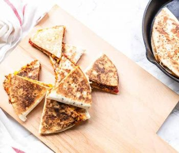 Looking with beef quesadillas with homemade quesadilla seasoning. Serve for lunch or as an easy dinner. Visit thetortillachannel.com for the full recipe #thetortillachannel #quesadillas #beefquesadilla #beefquesadillas #lunch #dinner