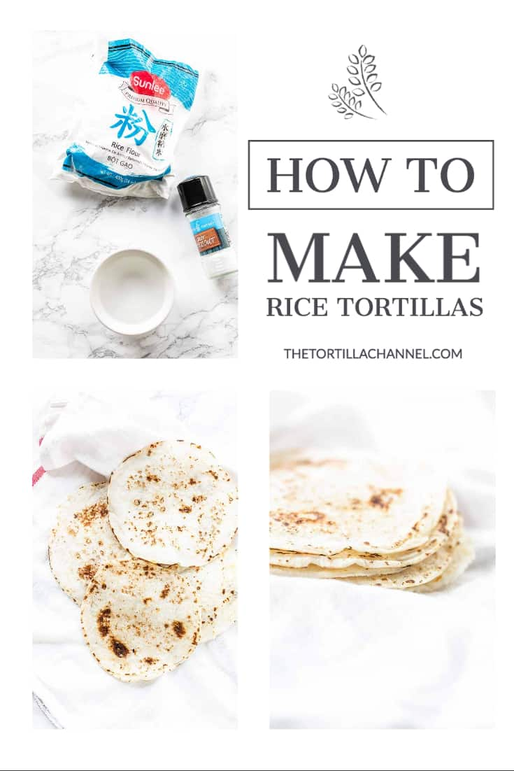The best gluten free tortillas are rice flour tortillas. Just as soft and pliable as flour tortillas. Add your favorite fillings you will love it! Visit thetortillachannel.com for the full recipe #thetortillachannel #ricetortillas #glutenfreetortillas #tortillas