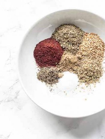 A great classic Middle Eastern spice blend. Za'atar seasoning is super easy to make from scratch. Give it at try and visit thetortillachannel.com for the full recipe and video #thetortillachannel #zaatarseasoning #zaatarspiceblend #zaatarspicemix